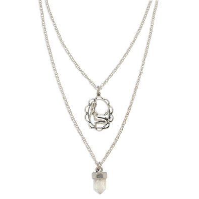 ZODIAC CRYSTAL CHARM NECKLACE | VIRGO