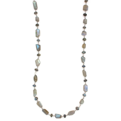 Chasing Waterfalls Necklace | Silver / Labradorite | TRIBE Jewelry by Sarah Lewis