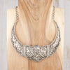 paisley silver collar necklace tibet adorn boutique