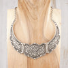 lotus silver collar necklace tibet adorn boutique
