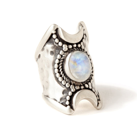 Crescent Moons Ring | Moonstone | TRIBE JEWELRY