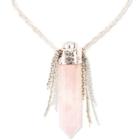 Shed Light Necklace | Rose Quartz | TRIBE Jewelry