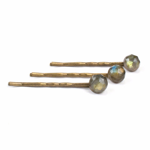 Crystal Hairpin Set | Labradorite | TRIBE Jewelry