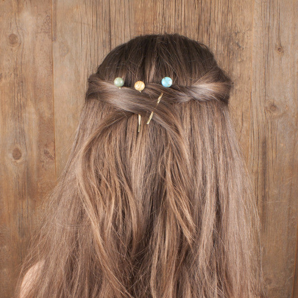 Desert Stone Hairpin Set | TRIBE Jewelry