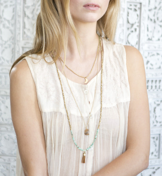 Indu Necklace | Jasper | Love & Light | Adorn by Sarah Lewis Jewelry