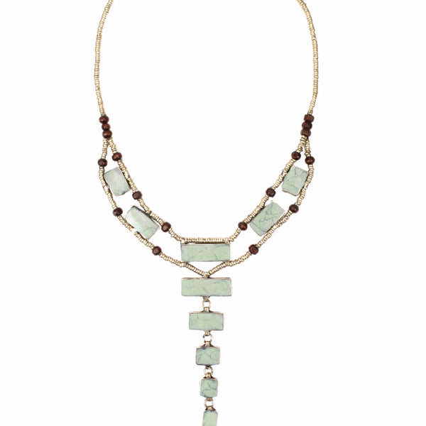 LADDER NECKLACE | JADE | GATHERED COLLECTION | TRIBE JEWELRY