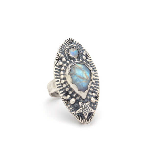 Eclipse Moonstone Ring Series 6