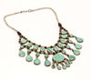 Kuchi Tribal Bib Necklace Turquoise | Tribe Gathered Collection | Gypsy Jewelry | Sarah Lewis