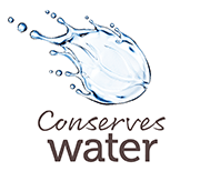 Conserves water