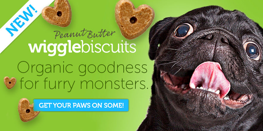 Wiggle Biscuits - Organic goodness for furry monsters. Get your paws on some!