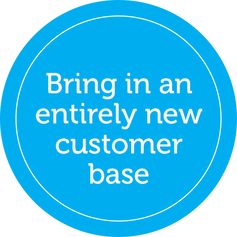Bring in an entirely new customer base