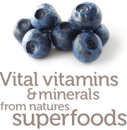 Vital vitamins & minerals from natures superfoods