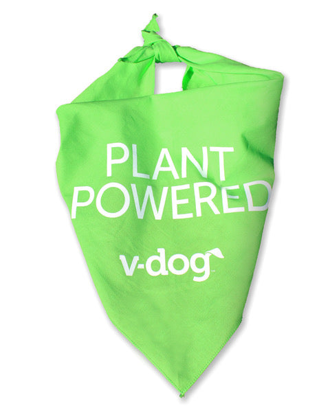 v-dog plant powered vegan dog bandana