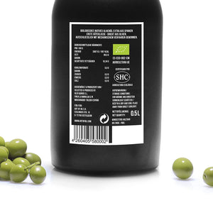 ORIGINAL - mild fruchtiges natives Olivenöl extra - Bio & Sortenrein - 500ml