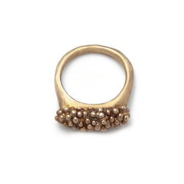 jewelry Caviar Bronze Ring JCR14 Julie Cohn Design Artisan Bronze Jewelry Handmade