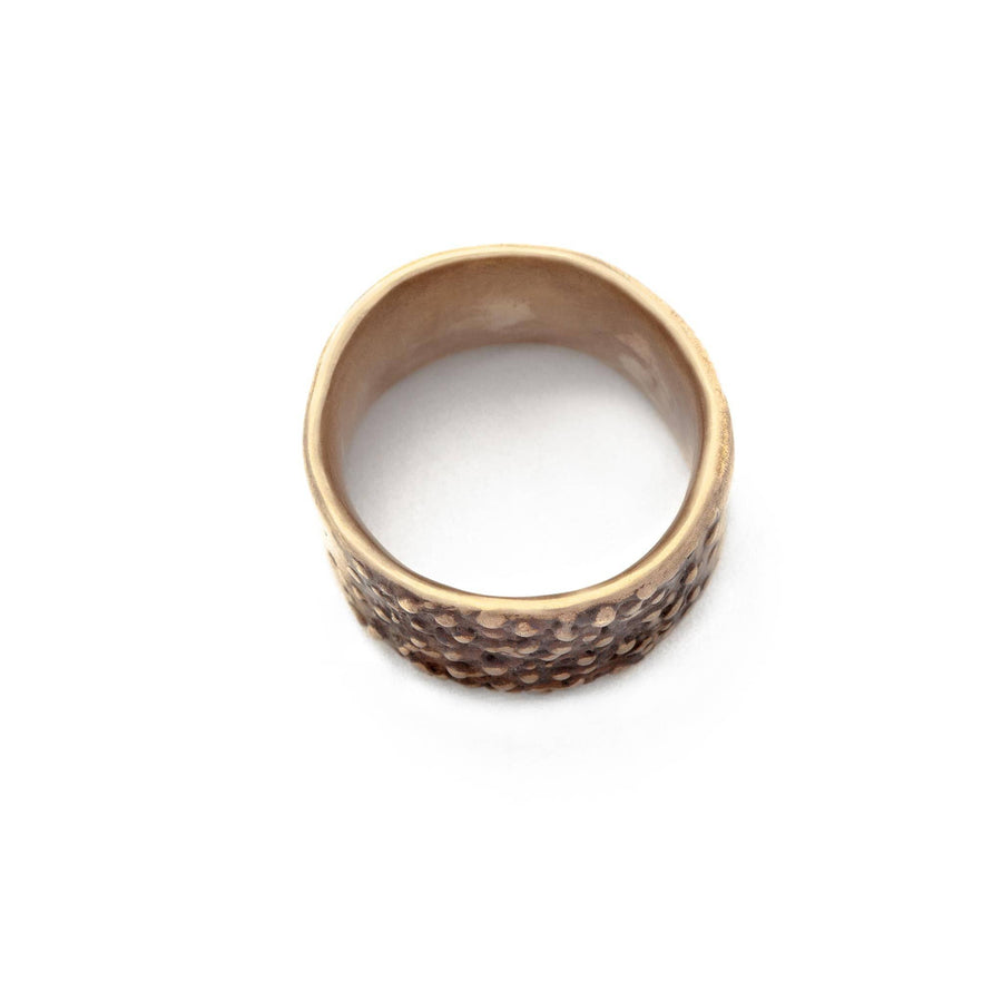 Julie Cohn Design. Bronze Pebble Band RIng