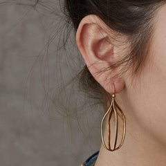 Birdcage Bronze Earring - Julie Cohn Design