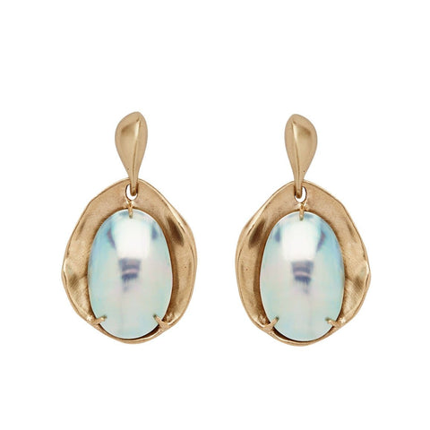 Lily Pad Abalone Earring