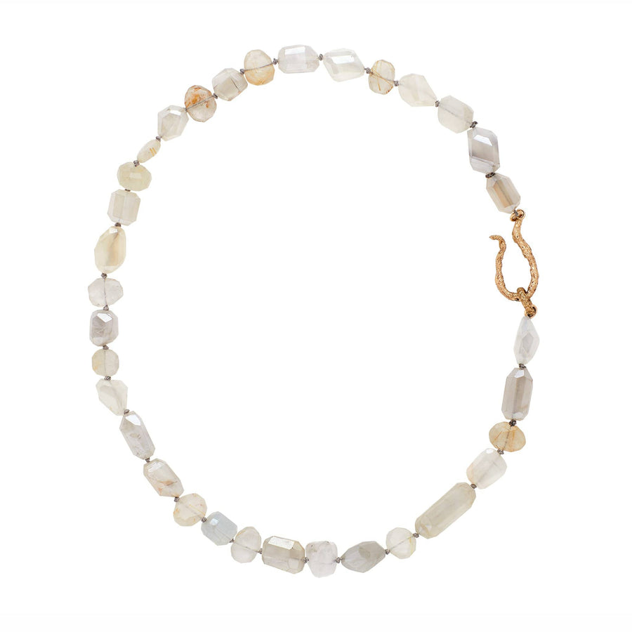 Julie Cohn Desin Moonlight Moonstone, Rutilated Quartz and Bronze Necklace