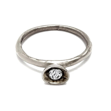 Cup Ring with White Topaz - Julie Cohn Design