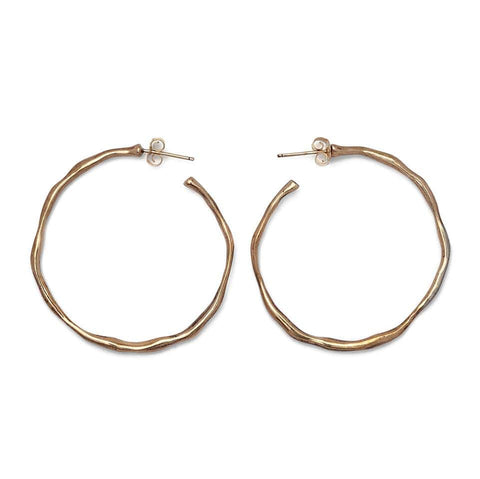 Organic Hoop Earrings Small