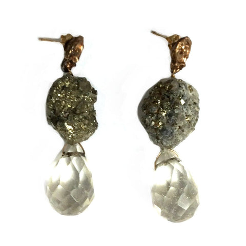 Pyrite Pineapple Earrings