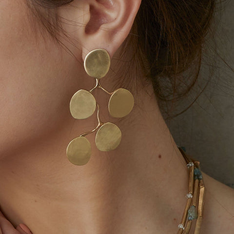 Red Bud Bronze Earring