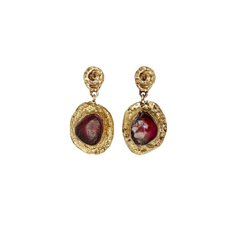 Elizabeth Garnet Earrings
