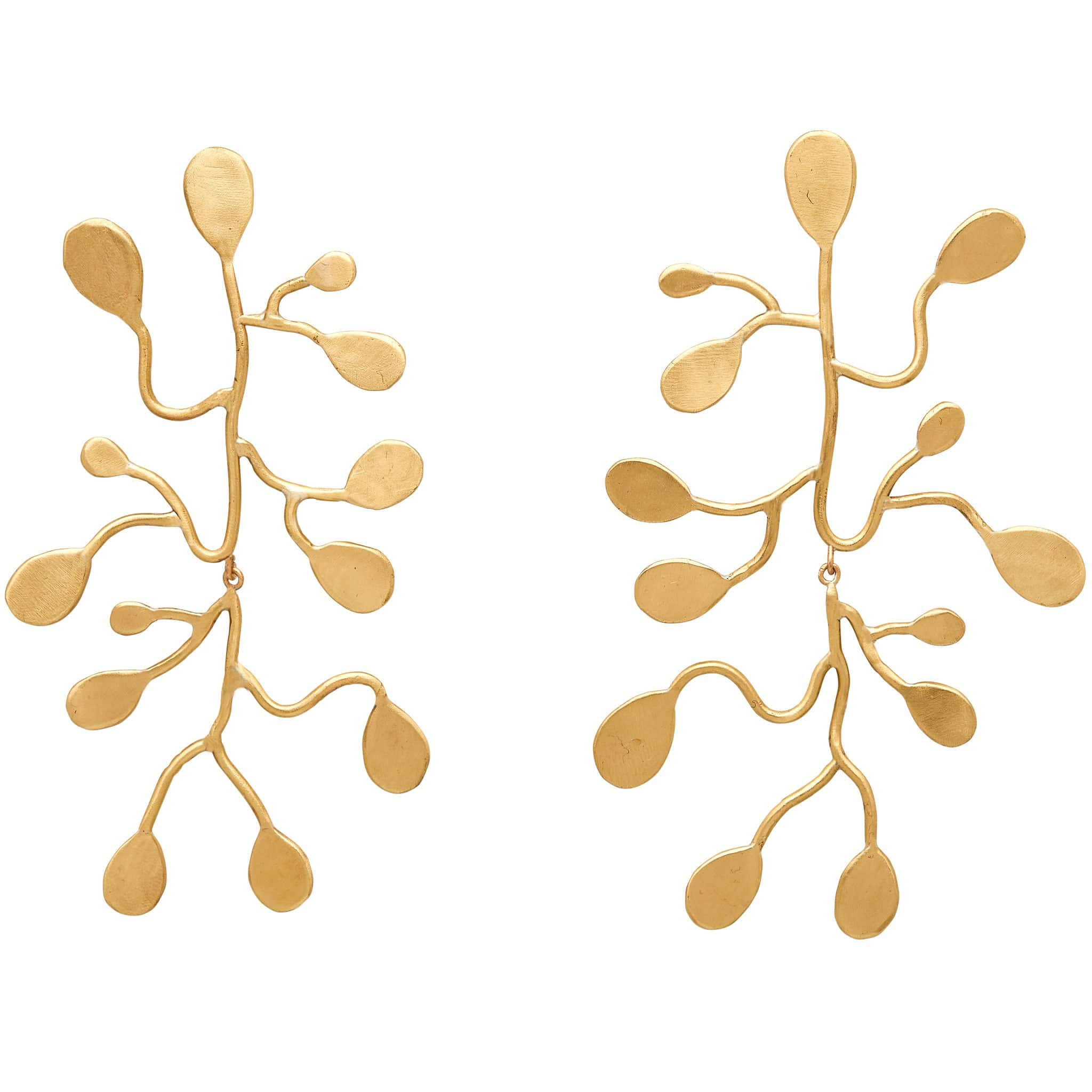 Julie Cohn Design Bronze Passion Vine Earrings.