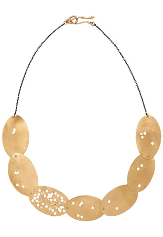 Lucio Bronze Collar Necklace