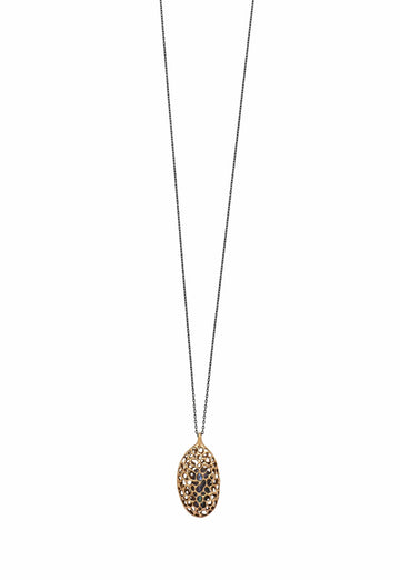 Julie Cohn Design. Bronze Pod Pendant Necklace