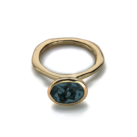 Cleopatra London Blue Topaz Ring