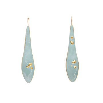 Julie Cohn Design Olive Leaf Clay Bronze Earrings