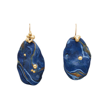 Julie Cohn Design Night Sky Clay Bronze Earrings
