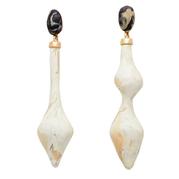 Julie Cohn Design Basilica Ivory Clay Bronze Earrings