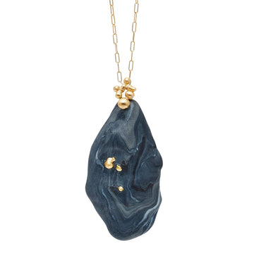 Julie Cohn Design Slate Clay Bronze Pendant Necklace