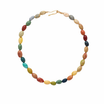 Julie Cohn Design Venice Multi Color Clay Necklace