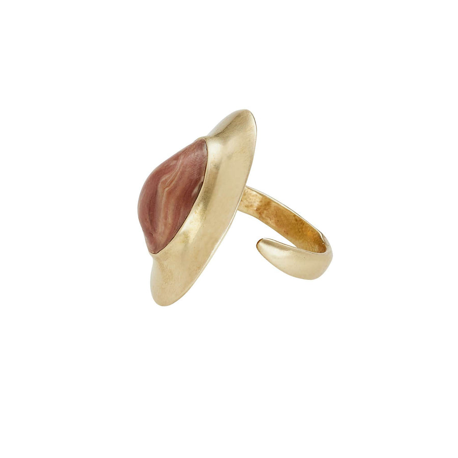Egyptian Bronze Carnelian Clay Ring JCR148 Julie Cohn Design Artisan Bronze Jewelry Handmade
