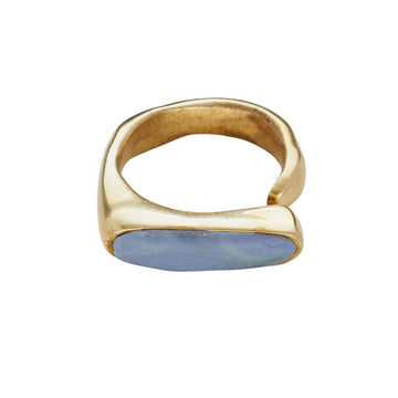 River Bronze Wedgewood Clay Ring