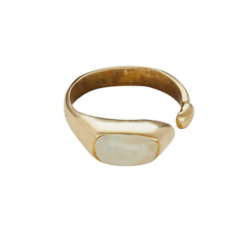 Pool Bronze Ivory Clay Ring