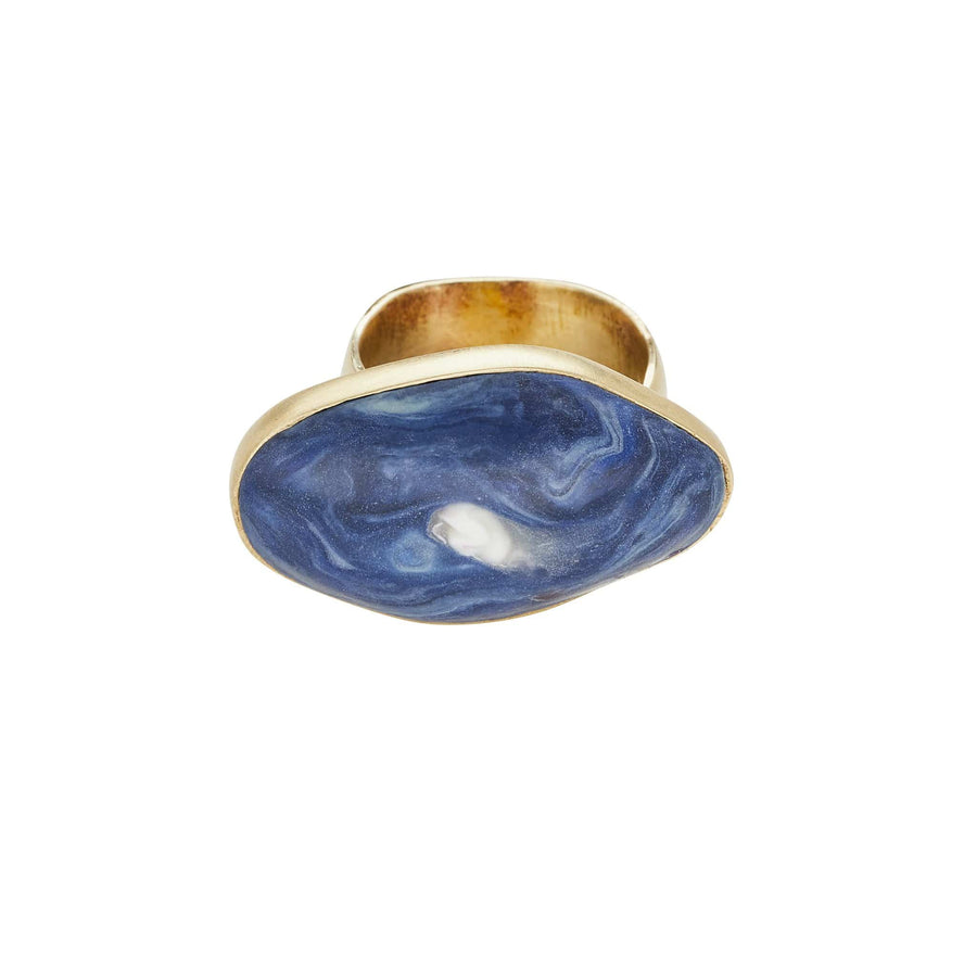 Roman Bronze Delft Clay Ring JCR153 Julie Cohn Design Artisan Bronze Jewelry Handmade