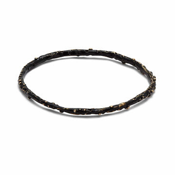 Julie Cohn Design Bronze Black Caviar Bangle Bracelet