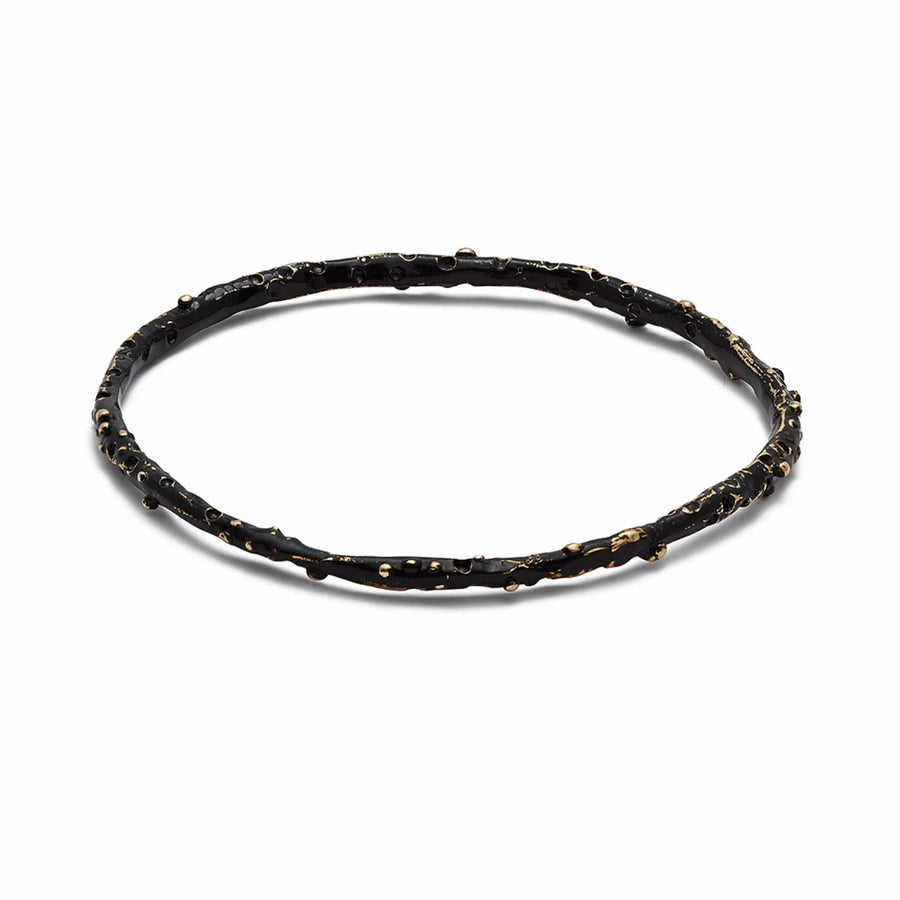jewelry BLACK CAVIAR BRONZE BANGLE JCB31 Julie Cohn Design Artisan Bronze Jewelry Handmade
