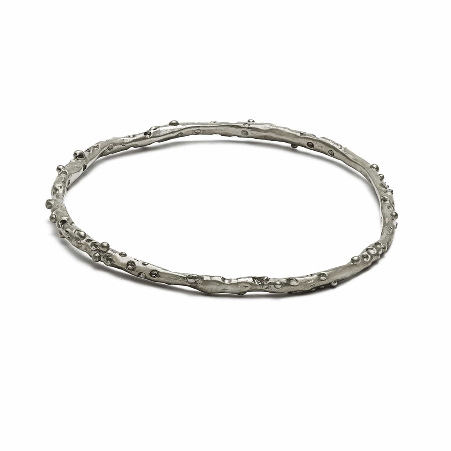 Julie Cohn Design Sterling Caviar Bangle Bracelet
