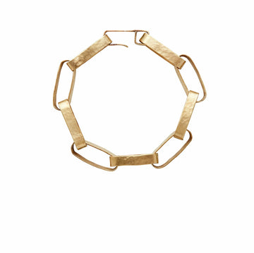 Julie Cohn Design Hand Fabricated Bronze Paper Chain Link Bracelet