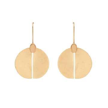 Julie Cohn Design Hand Fabricated Bronze Shield Earring
