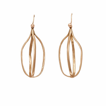 BIRD CAGE BRONZE EARRING