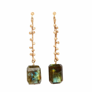 Bronze Eve Earrings Labradorite Stones Julie Cohn Design
