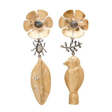 Julie Cohn Design Bronze Secret Garden Earrings
