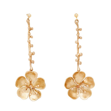 Bronze Eve Cherry Blossom Flower Drop Earring Julie Cohn Design